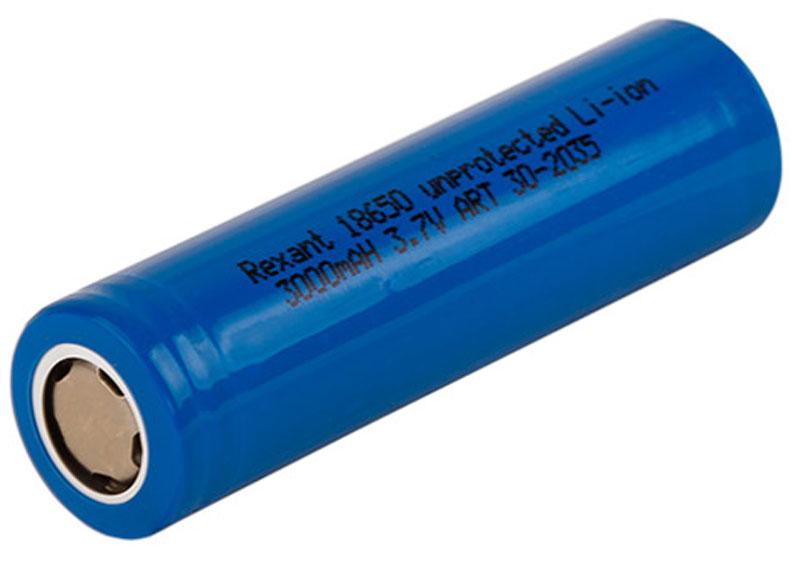 Аккумулятор Rexant 18650, unprotected, Li-ion 3000 mAH, 3.7 В30-2035Высокоемкостный аккумулятор Rexant 18650 идеально подходит для электронных сигарет, обладает высокой емкостью и токоотдачей что отражается на сроке работы и на количестве генерируемого пара.Тип: Li-Ion, незащищенный; Типоразмер: 18650; Емкость: 3000 mAh; Напряжение номинальное: 3.7В; Ток: 20А; Без эффекта памяти.
