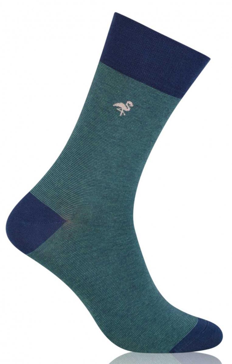 Носки мужские More, цвет: зеленый. 051 (001). Размер 43/46051 (001)Стильные деловые мужские носки More изготовлены из высококачественного хлопка, они приятны на ощупь, не раздражают кожу, позволяя ей дышать. Модель отлично облегает стопу. Имеют удобную не сдавливающую резинку.Изделие дополнено принтом.