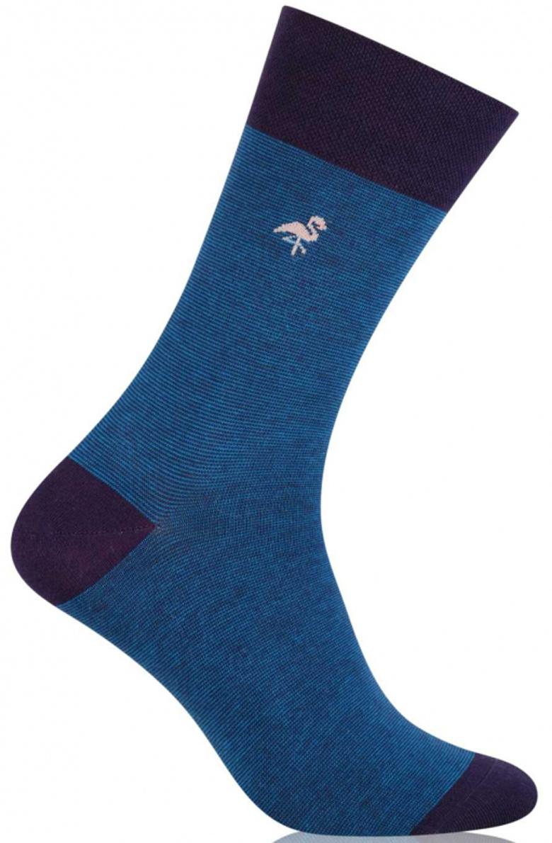 Носки мужские More, цвет: синий. 051 (002). Размер 39/42051 (002)Стильные деловые мужские носки More изготовлены из высококачественного хлопка, они приятны на ощупь, не раздражают кожу, позволяя ей дышать. Модель отлично облегает стопу. Имеют удобную не сдавливающую резинку.Изделие дополнено принтом.