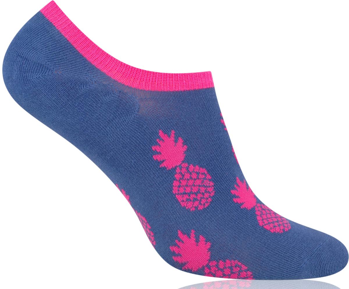 Носки женские More, цвет: синий, розовый. 153 (006). Размер 39/42153 (006)Укороченные женские носки More изготовлены из высококачественного хлопка, они приятны на ощупь, не раздражают кожу, позволяя ей дышать. Модель отлично облегает стопу. Изделие дополнено принтом.