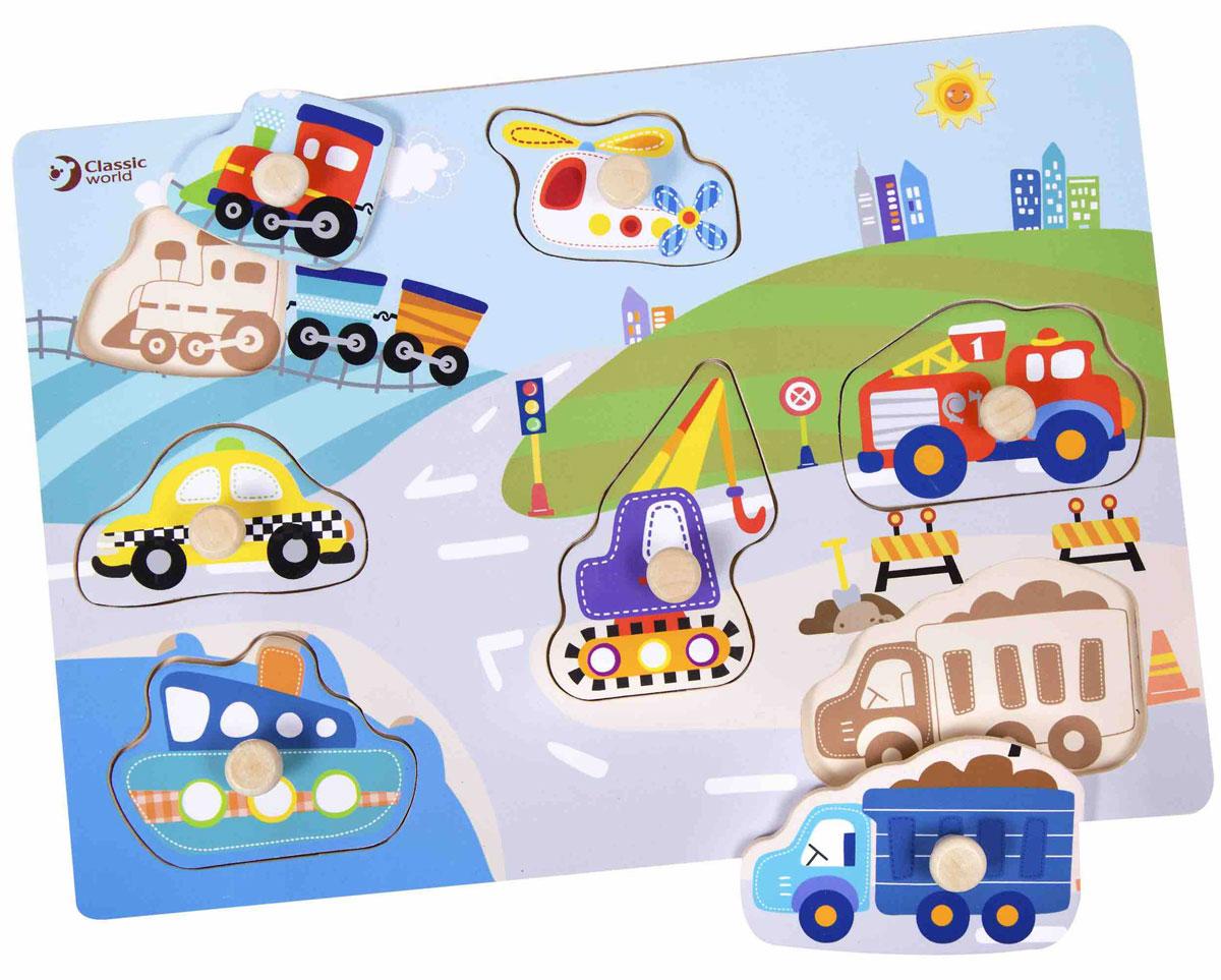 Classic World Пазл для малышей Транспорт трактор с прицепом св ход 36см dickie