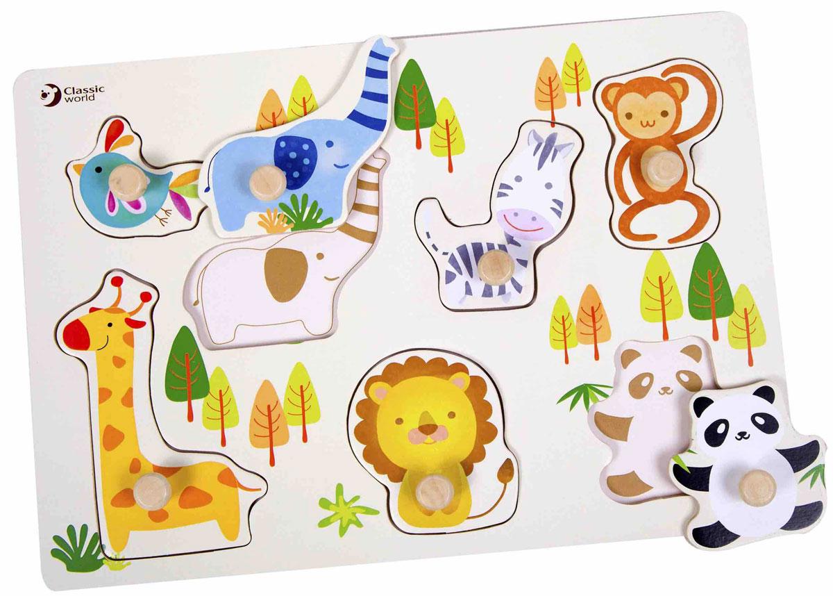 Classic World Пазл для малышей Самый дружный зоопарк
