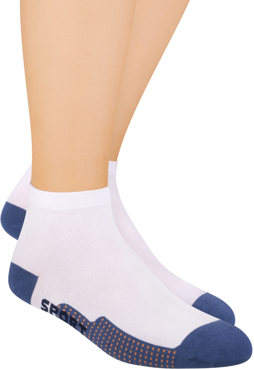 Носки мужские Steven, цвет: белый, синий. 054 (F61). Размер 44/46 носки подростковые steven цвет серый 150 ms003 размер 35 37