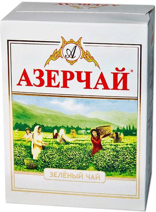 Азерчай чай зеленый листовой, 100 г4760062103090Чай зеленый байховый высшего сорта. В сухой разогретый чайник добавить чай из расчета 1 чайная ложка на каждые 100 мл воды. Заваривают не слишком горячей водой (80°-95°C). Время заваривания до 3 мин.