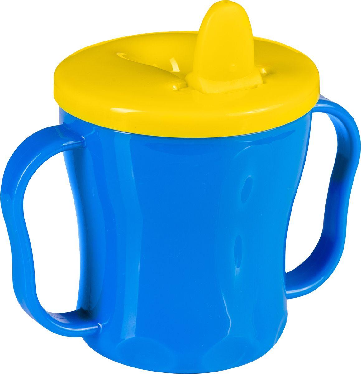 BabyOno Поильник-непроливайка от 6 месяцев цвет синий желтый 180 мл