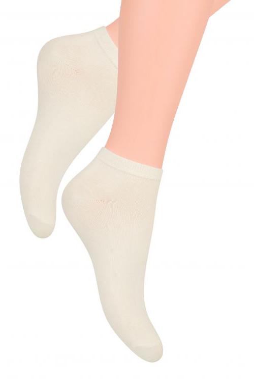 Носки женские Steven, цвет: молочный. 052 (UX02). Размер 35/37 t 052 black