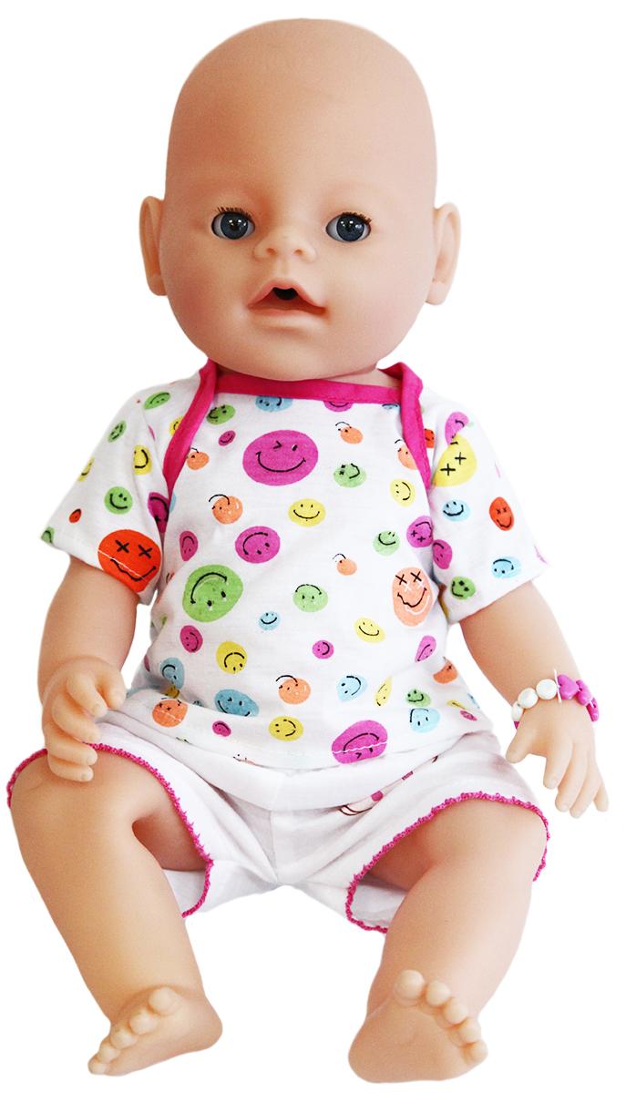 S+S Toys Пупс цвет одежды белый розовый