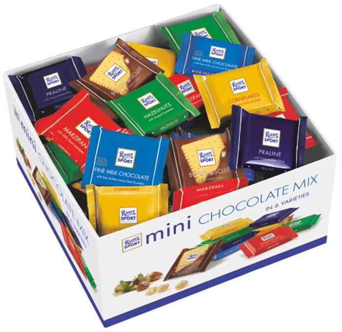 Ritter Sport Яркая Коллекция набор мини-шоколада 7 вкусов, 1400 г4000417048103Все разнообразие вкусов в одной коробке.В наборе 84 плитки шоколада.