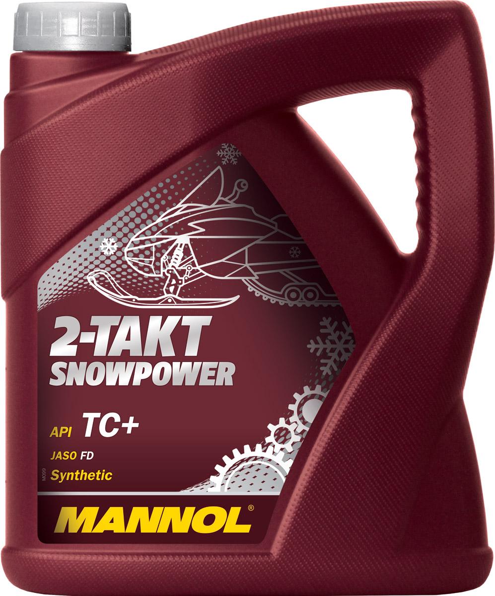 Масло моторное MANNOL 2-Takt Snowpower, API TC+, синтетическое, 4 л1431Моторное масло Mannol 2-Takt Snowpower - уникальное масло на синтетической основе для 2-х тактных двигателей снегоходов, мотовездеходов, квадроциклов, скутеров и другой техники, работающей в холодном климате и суровых условиях. Специальная формула масла обеспечивает высокую степень сгорания, препятствует калильному зажиганию. Благодаря низкой точке замерзания (-42°C), обеспечивает надежный холодный пуск. Масло Mannol 2-Takt Snowpower содержит углеводородный смеситель, который способствует мгновенному образованию стабильной смеси топлива и масла при сильных морозах. Повышает срок использования двигателя посредством уменьшения трения и, соответственно, износа. Выдерживает гоночные нагрузки. Предотвращает формирование осадков в двигателе и в поршневых кольцах, обладает отличными моющими свойствами. Предназначено для систем непосредственного впрыска и предварительного смешения с бензином. Окрашено в зеленый цвет для облегчения индетификации. Рекомендуемая дозировка при смешении топлива с бензином - 1:50 (пользуйтесь рекомендациями производителей техники.) Допуски и соответствия JASO FD, ISO L-EGD, ROTAX 253 Snowmobile.Класс качества по API: TC+.Вязкость при 100°C: 8,12 CSt.Вязкость при 40°C: 50,17 CSt.Индекс вязкости: 133.Плотность при 15°C: 874 kg/m3.Температура вспышки COC: 160 °C.Температура застывания: -42 °C.Щелочное число: 1,44 gKOH/kg.Товар сертифицирован.