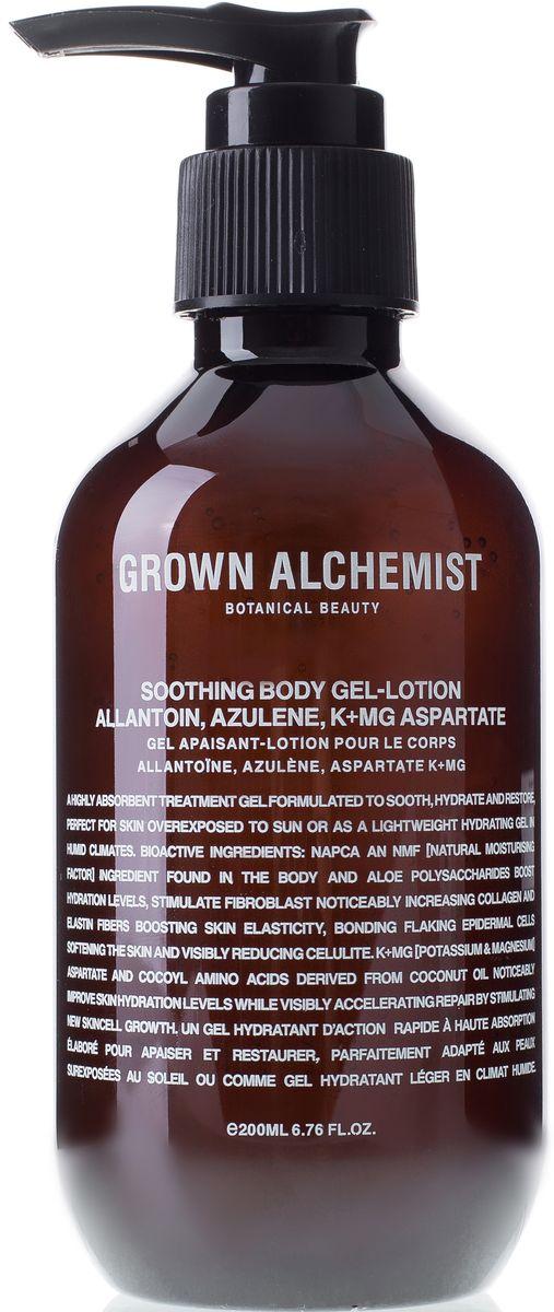 Grown Alchemist Восстанавливающий гель для тела, 200 млGRA0182Быстровпитываемый и быстродействующий увлажняющий гель, созданный для смягчения и восстановления кожи, идеален для ухода за кожей, долгое время пребывавшей на солнце. Более лёгкая альтернатива увлажняющему крему или лосьону для тела, оптимальная для влажного и жаркого климата. Подходит для всех типов кожи.