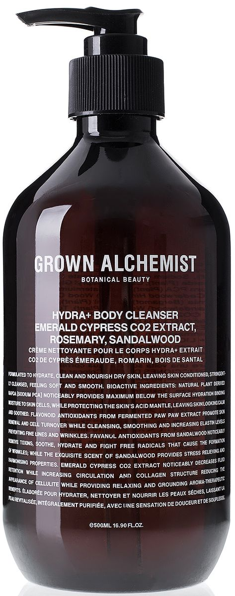 Grown Alchemist Увлажняющий гель для душа, 500 млGRA0183Нанесите гель на кожу тела. Слегка помассируйте для образования пены. Смойте водой.