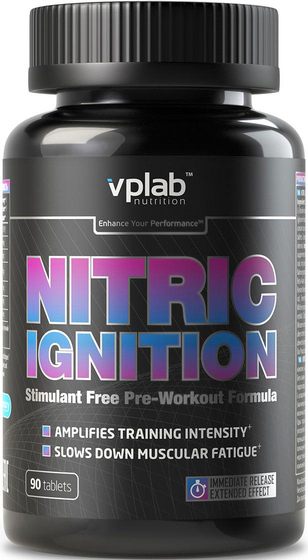 Предтренировочный комплекс VPLab Nitric Ignition, 90 таблетокV70540Безкофеиновая формула на основе бета-аланина с L-аргинином, L-цитруллином, L-гистидином, L-аспарагиновой кислотой и витамином В3. Все эти ключевые компоненты объединены с помощью специальной технологии, обеспечивающей мгновенное и длительное действие продукта. Гарантированно увеличивает энергетический потенциал для тренировки.Усиливает кровоток, поддерживая интенсивный и продолжительный эффект пампинга, обеспечивает мышцы дополнительной энергией, способствует увеличению выносливости и силовых показателей, улучшает восстановление мышц. Отсутствие кофеина делает продукт идеально подходящим для вечерних тренировок. Рекомендации по применению:1-2 порции в день за 30 минут до тренировки (3-6 таблеток).Товар не является лекарственным средством.Товар не рекомендован для лиц младше 18 лет.Могут быть противопоказания и следует предварительно проконсультироваться со специалистом.Как повысить эффективность тренировок с помощью спортивного питания? Статья OZON Гид
