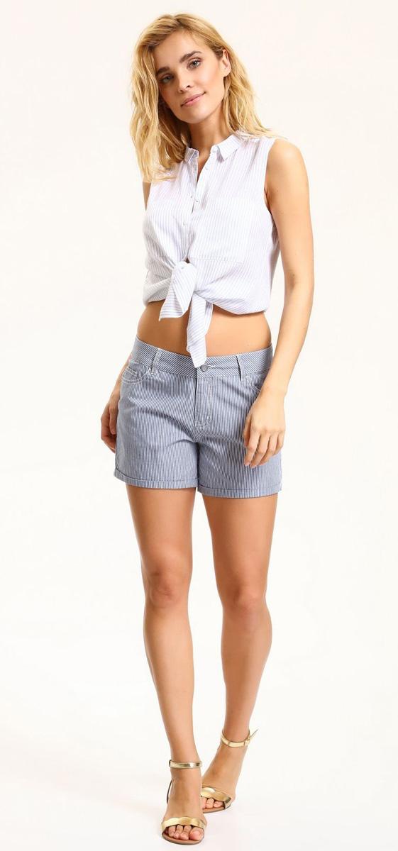Шорты женские Top Secret, цвет: белый, синий. SSZ0791BI. Размер 42 (50) шорты женские top secret цвет синий ssz0815ni размер 42 50