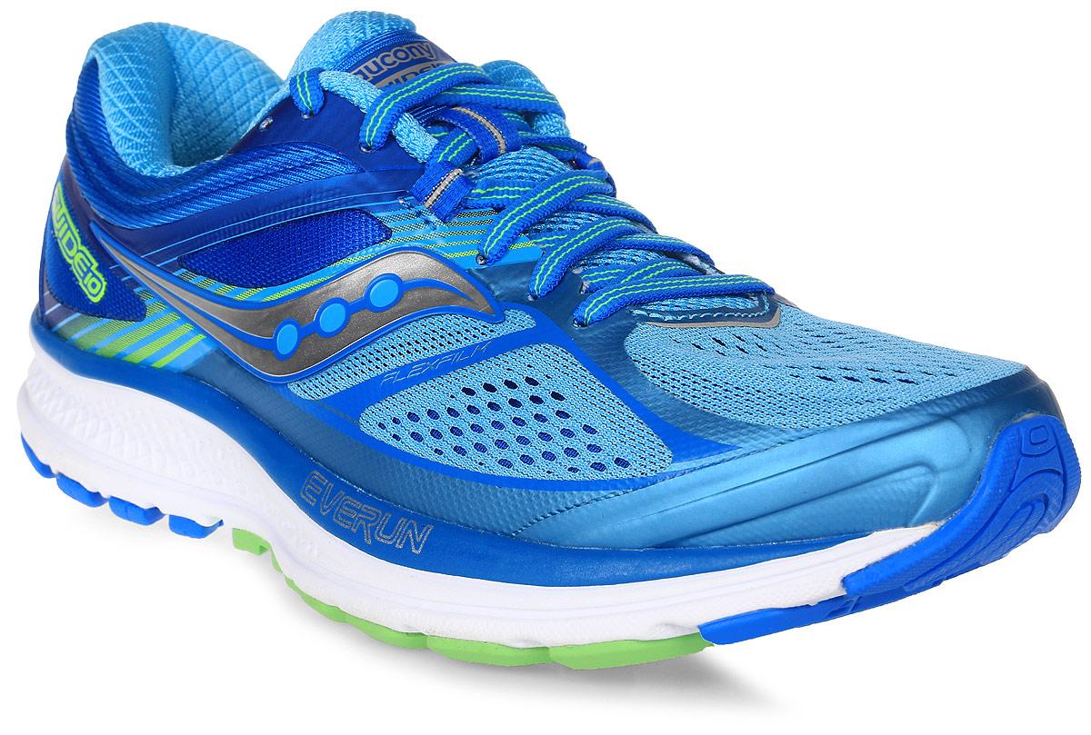Кроссовки для бега женские Saucony Guide 10, цвет: голубой. S10350-1. Размер 8 (38)