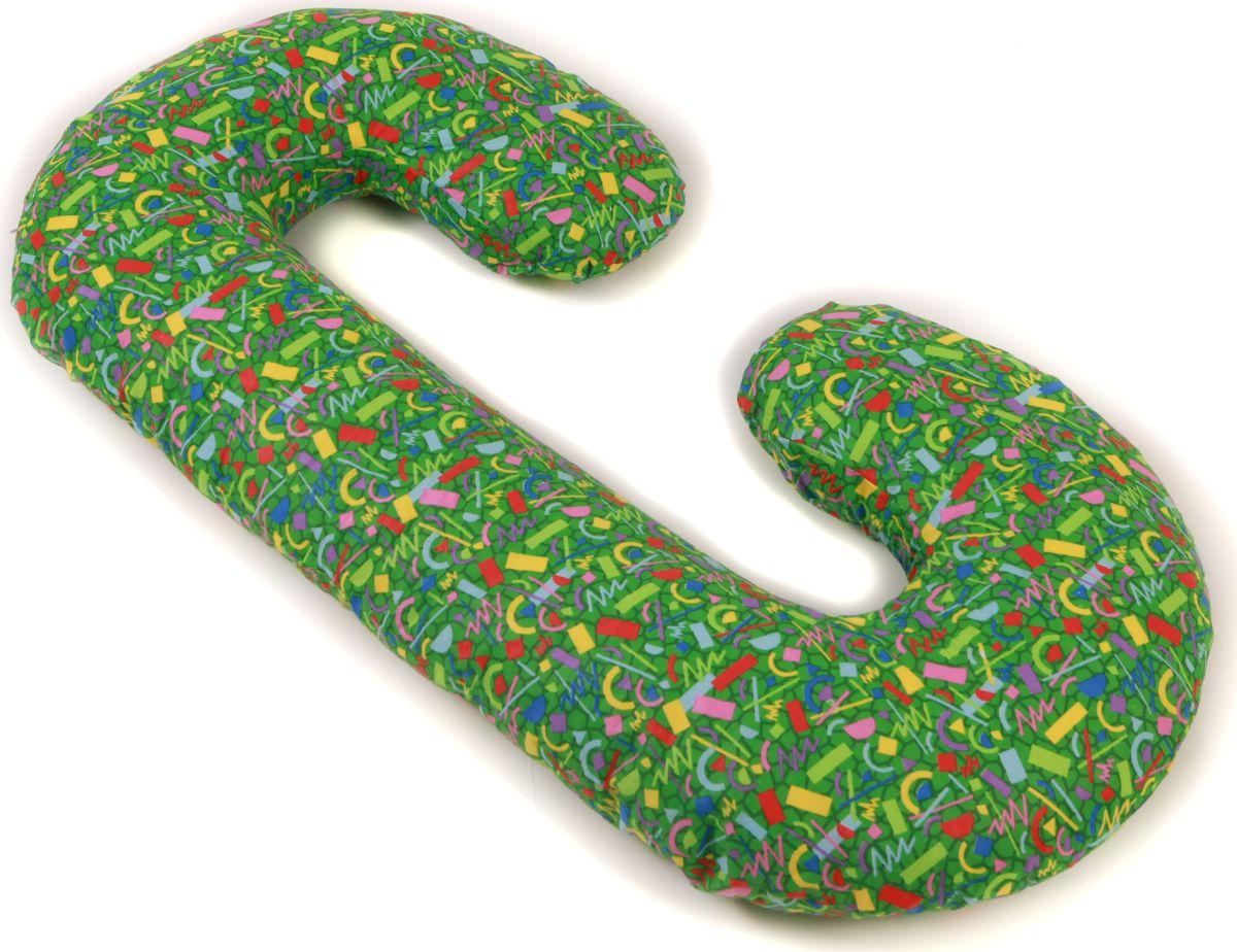Body Pillow Подушка для беременных C-образная с наволочкой цвет зеленый 75 х 140 см