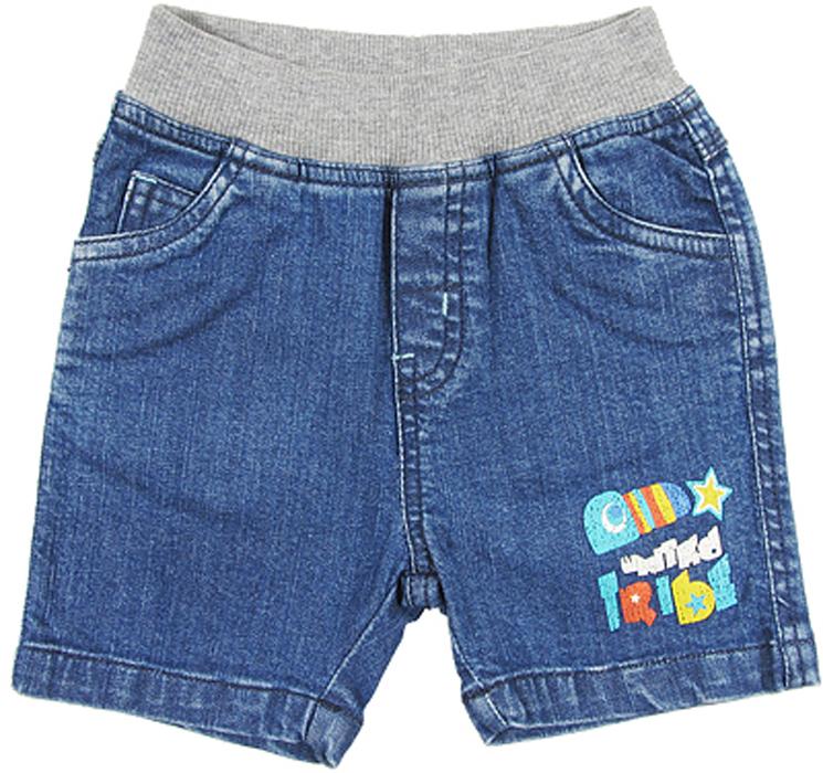 Шорты для мальчика Cherubino, цвет: голубой. CB 7J043. Размер 80CB 7J043Шорты джинсовые для мальчика Cherubino, из тонкого денима. Изделие имеет мягкий трикотажный пояс надежно фиксирующий шортики и не сдавливающую животик ребенка.