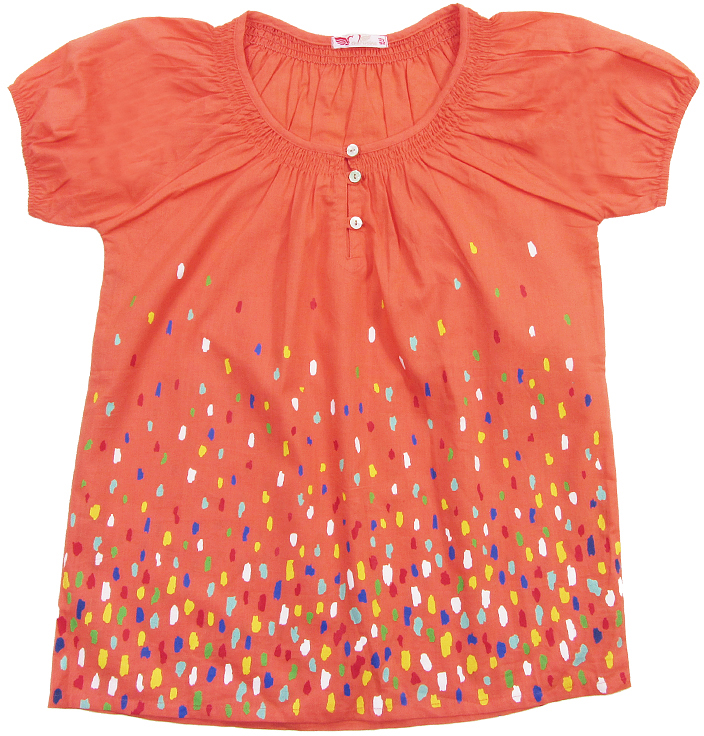 Блузка для девочки Cherubino, цвет: розовый. CJ 6T035. Размер 146CJ 6T035Блузка для девочки Cherubino изготовлена из тонкого хлопкового текстиля. Модель оформлена по горловине сборками и декоративными пуговицами.