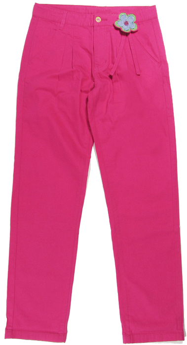 Брюки для девочки Cherubino, цвет: розовый. CJ 7T032. Размер 134CJ 7T032Брюки для девочки Cherubino изготовлены из хлопкового текстиля. Брюки украшены декоративным цветком.
