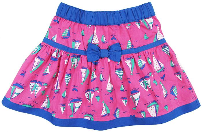 Юбка для девочки Cherubino, цвет: розовый. CK 7T022. Размер 122CK 7T022Юбки для девочки Cherubino изготовлена из натурального хлопка. Модель с набивным рисунком дополнена эластичной резинкой на талии.