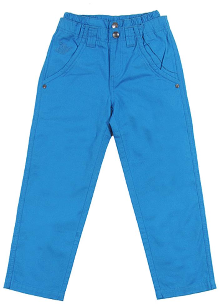 Брюки для мальчика Cherubino, цвет: синий. CK 7T026. Размер 122CK 7T026Брюки для мальчика Cherubino изготовлены из натурального хлопка. Модель выполнена с резинкой на талии и дополнена карманами.