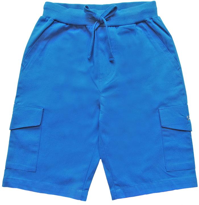 Шорты для мальчика Cherubino, цвет: синий. CK 7T065 (155). Размер 116CK 7T065 (155)Шорты для мальчика Cherubino из хлопка. Они мягкие и приятные на ощупь, не раздражают нежную и чувствительную кожу ребенка, хорошо пропускают воздух. Изделие имеет мягкую широкую резинку, надежно фиксирующую шортики и не сдавливающую животик ребенка. Для дополнительного удобства талия шорт оснащена затягивающимся шнурком. Накладные карманы с клапаном по бокам.