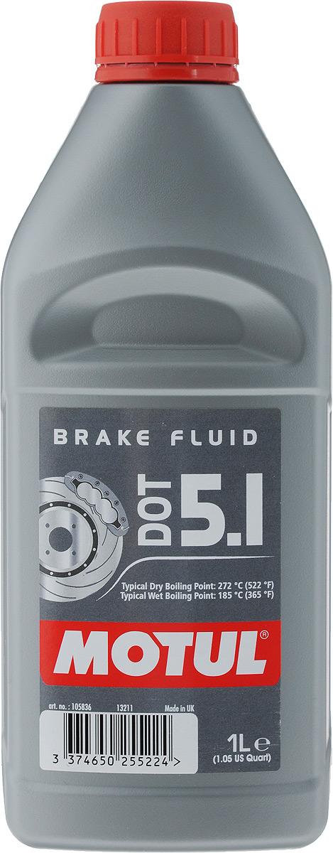 Жидкость тормозная Motul DOT 5.1 Brake Fluid, 1 л105836Жидкость тормозная Motul DOT 5.1 Brake Fluid длительного использования предназначена для гидравлических тормозных приводов и сцеплений. 100% синтетика, DOT 5.1 (без силикона). Подходит для всех систем гидравлических тормозных приводов и сцеплений, в которых рекомендовано применение жидкостей DOT 3, DOT 4, DOT 5.1. Жидкость специально разработана для работы с антиблокировочной системой тормозов (ABS). Одобрения: FMVSS 116 DOT 5.1 NON SILICONE BASE, DOT 4 et DOT 3; SAE J 1703; ISO 4925 (5.1, 4 et 3).