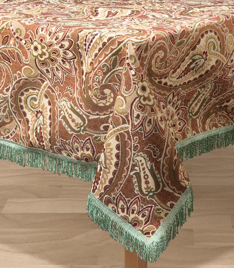 Скатерть Les Gobelins Vostochnaya Skazka, прямоугольная, 150 х 190 смlns193809Прямоугольная скатерть Les Gobelins Vostochnaya Skazka с ярким рисунком привлечет к себе внимание и органично впишется в интерьер комнаты. Изделие изготовлено из высококачественной ткани гобелен и оформлено бахромой и кисточками. Необычайная красота сочетается в этой скатерти с высокой прочностью и долговечностью, а свойство гобелена по-разному проявлять себя в зависимости от освещения помещения позволяет открывать все новые и новые детали, которые, как казалось, раньше скрывал гобелен. Красочная и приятная на ощупь скатерть сделает любое застолье торжественным, а интерьер - уютным и своеобразным. Расположение рисунка на скатерти соответствует фотографии.Состав материала:52% хлопок, 48% полиэстер.