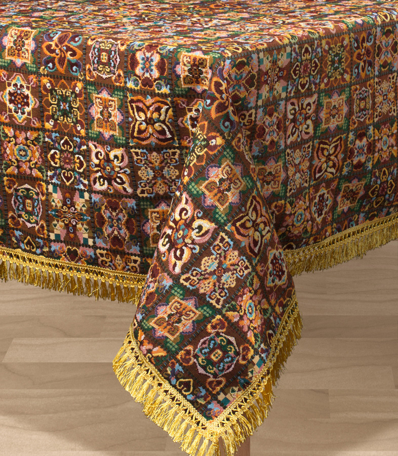 Скатерть Les Gobelins Mosaique De Fleurs, прямоугольная, 150 х 190 см