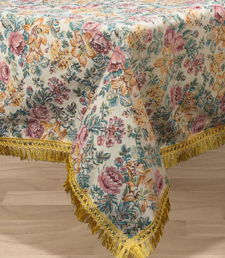 Скатерть Les Gobelins Arrangement De Fleurs, прямоугольная, цвет: бежевый, 150 х 190 см