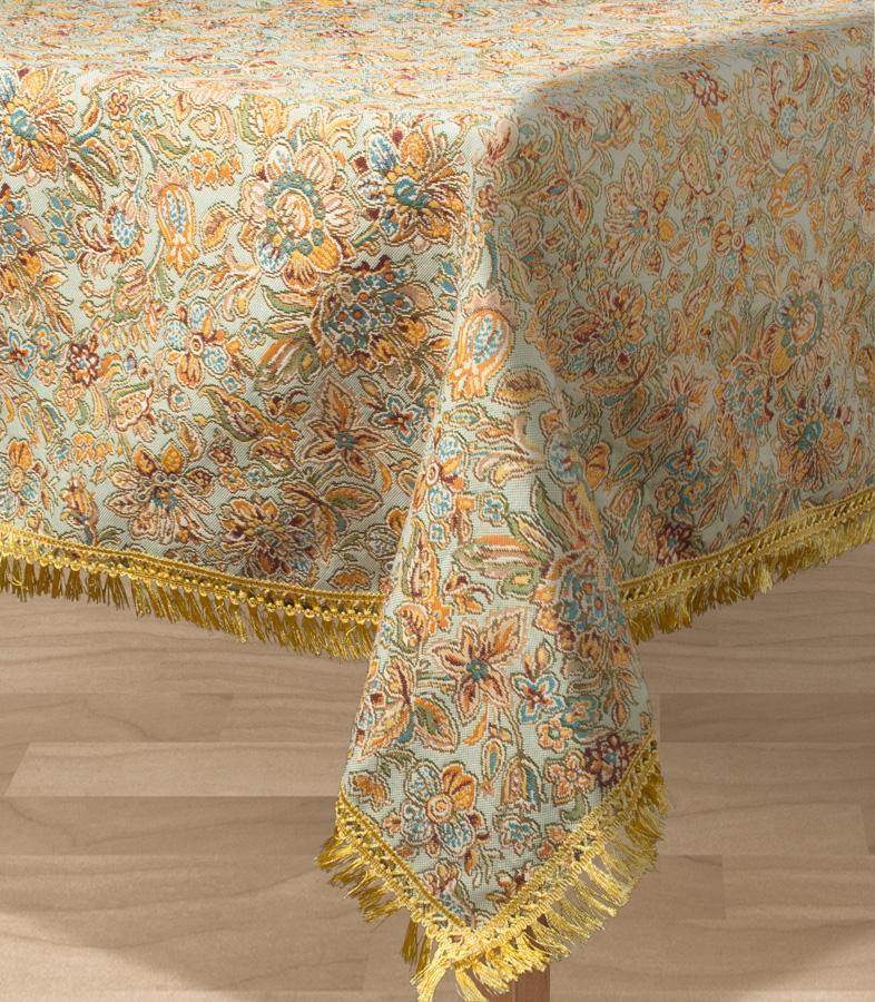 Скатерть Les Gobelins Vitrail De Printemps, прямоугольная, 150 х 190 см блузка женская finn flare цвет лиловый синий бежевый s16 14085 814 размер m l 46 48