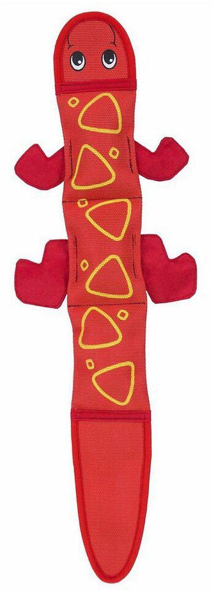 Игрушка для собак Petstages OH Fire Biterz. Ящерица, с 2 пищалками, цвет: красный, 40 см tuffy супер прочная игрушка для собак адмирал фурия пламя прочность 8 10 alien fire t a fire ali