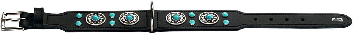 Ошейник для собак Hunter  Sioux 55 , цвет: черный, бирюзовый, обхват шеи 41-49 см - Товары для прогулки и дрессировки (амуниция)