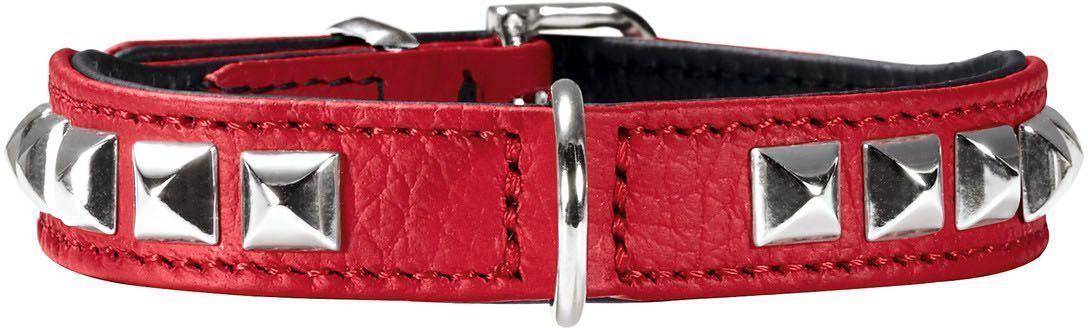 Ошейник для собак Hunter  Rocky Petit 30 , цвет: красный, обхват шеи 23-27 см