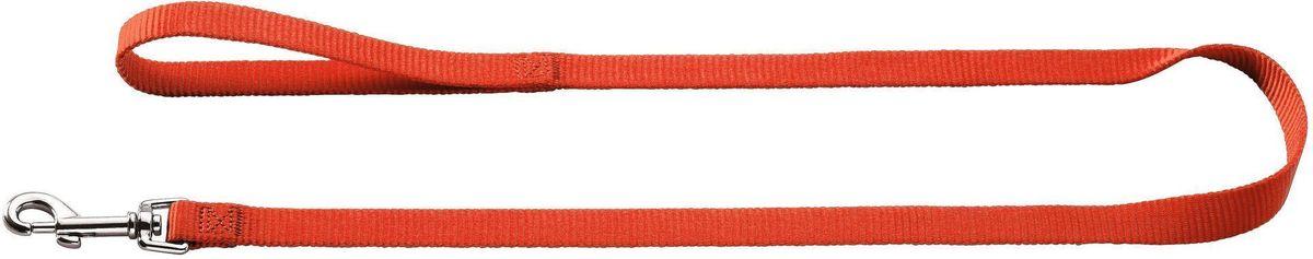 Поводок для собак Hunter Smart Ecco, цвет: красный, длина 110 см hunter ошейник для собак hunter ecco s нейлон лиловый 30 45см