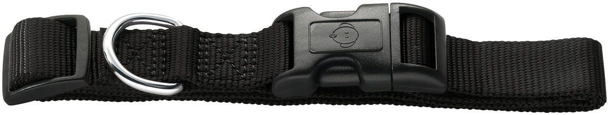 Ошейник для собак Hunter Smart. Ecco, нейлоновый, цвет: черный, размер: L (41-65 см) петлайн ошейник с поводком нейлоновый для кошек и собак petline бабочка