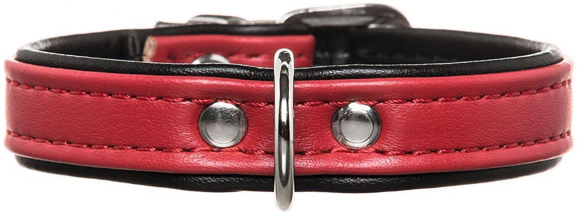 Ошейник для собак Hunter Smart Modern Аrt, цвет: красный, черный, обхват шеи 24-28,5 см ошейник hunter collar maui vario plus m 36 55cм сетчатый текстиль красный для собак