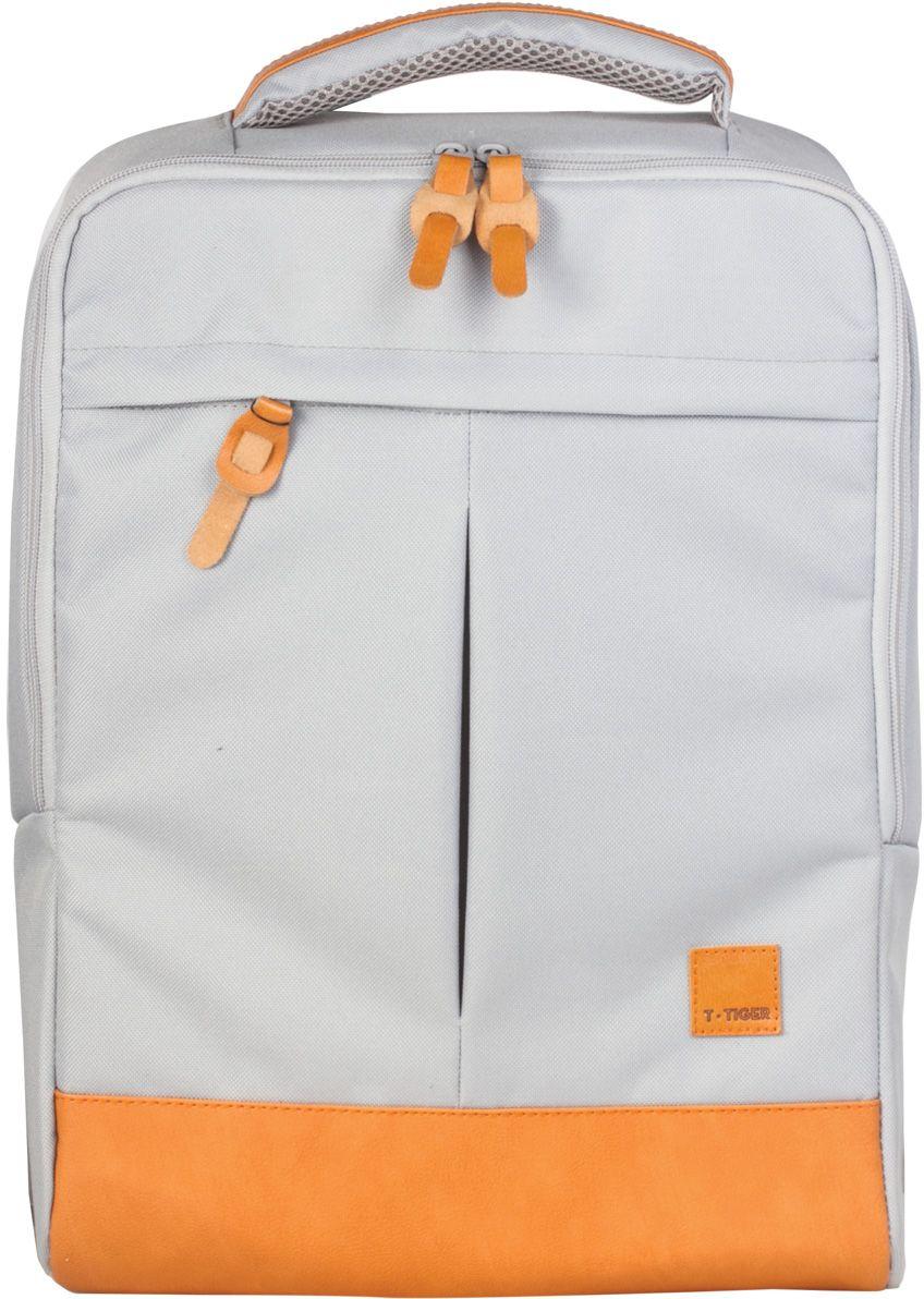 Tiger Enterprise Рюкзак цвет серый бежевый225569Этот оригинальный рюкзак - сочетание практичности, удобства и безупречного стиля в любой ситуации. Ваш незаменимый помощник в городе и в дороге.Уплотненный внутренний карман с защитным ремешком надежно защитит ваш ноутбук или планшет. Анатомически правильная вентилируемая спинка обеспечит удобство и комфорт даже при длительном ношении.