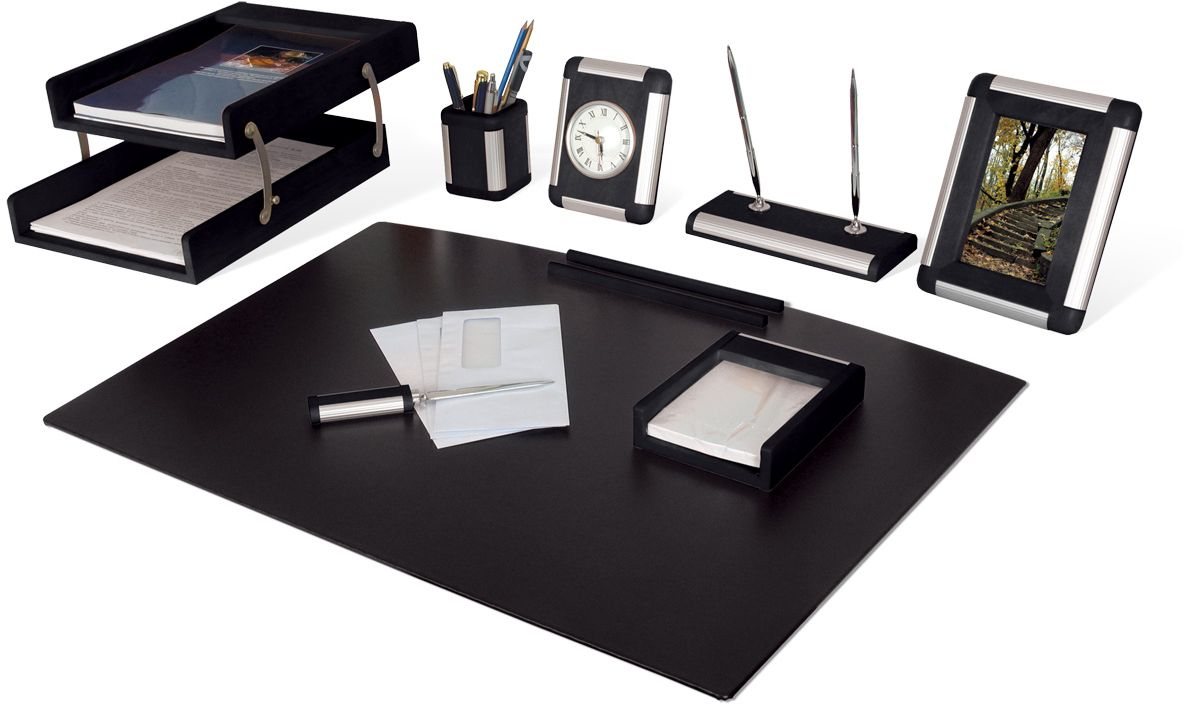 Bestar Набор письменных принадлежностей цвет черное дерево 8 предметов -  Наборы письменных принадлежностей