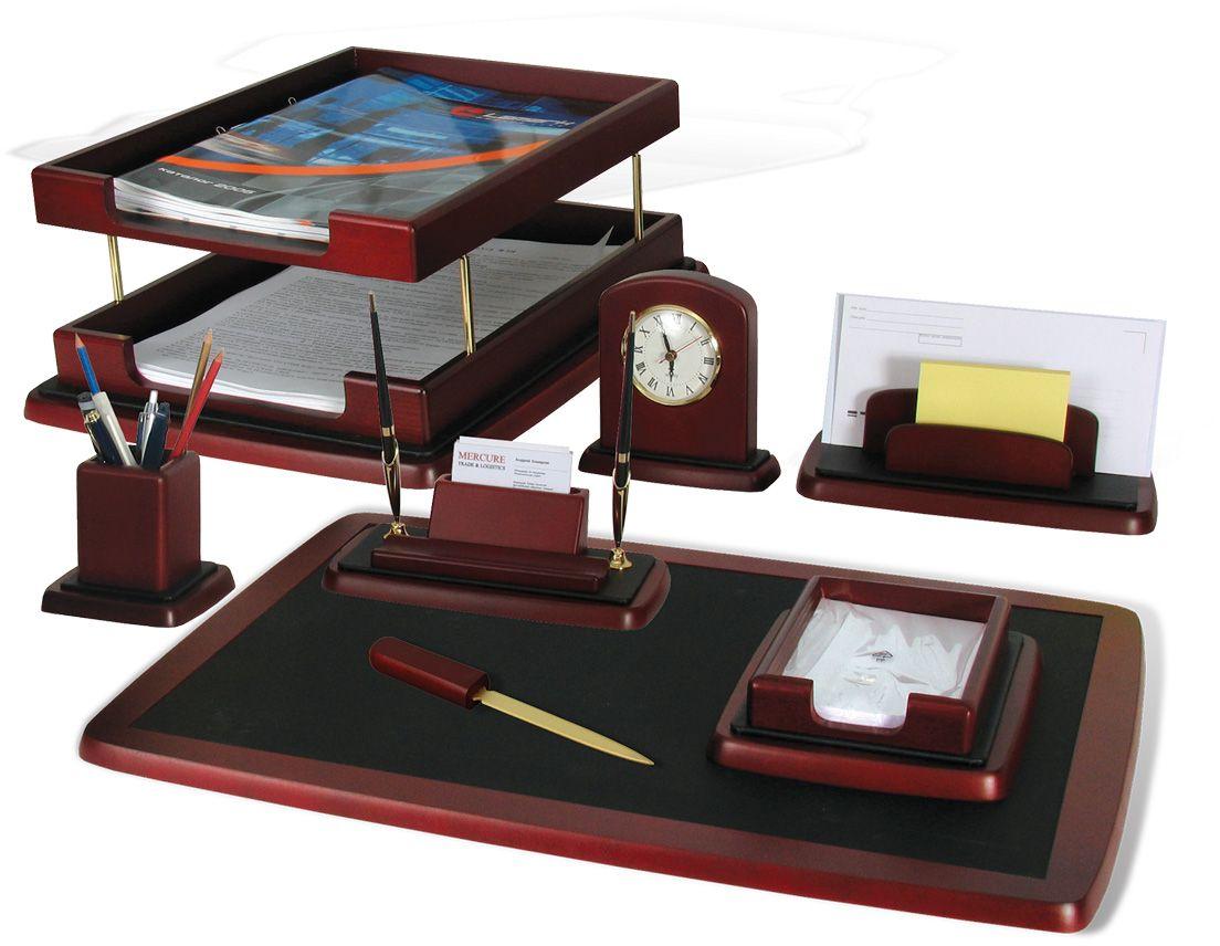 Bestar Набор письменных принадлежностей Atropos цвет красное дерево 8 предметов -  Наборы письменных принадлежностей