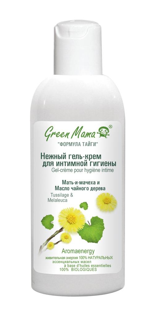 Green Mama Гель-крем для интимной гигиены Мать-и-мачеха и масло чайного дерева, 100 мл391gСохранить естественный баланс интимной слизистой оболочки и обеспечить правильную гигиену так важно для женщины! Под действием гормональных сдвигов, стрессов, хлорированной воды и обычного мыла часто страдает нормальная микрофлора. Масло чайного дерева - природный антисептик, предупреждающий раздражения. Экстракт листьев мать-и-мачехи смягчает, а молочная кислота поддерживает естественный кислотно-щелочной баланс (рН). Нежный, деликатный гель позволяет сохранить комфорт и свежесть в течение всего дня.Aromaenergy — содержит 100% натуральные эссенциальные (эфирные) масла.