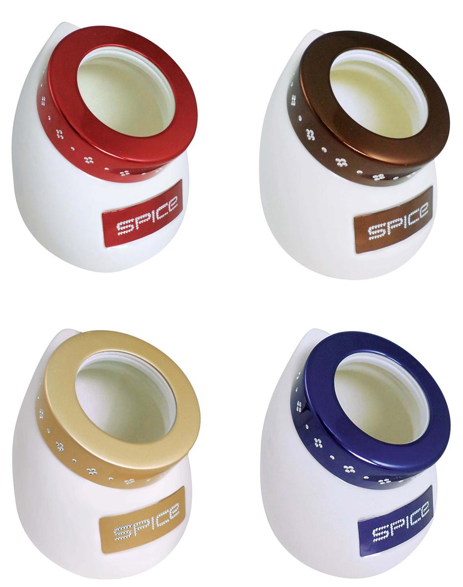 Набор для специй BartonSteel, цвет: белый, 4 предмета. 1204BS1204BSНабор для хранения специй. Фарфор. 4 емкости - 9 см. Цвет: белые с разноцветными краями.