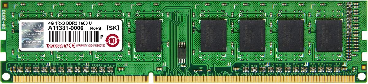 Transcend JetRam DDR3 4GB 1600МГц модуль оперативной памяти (JM1600KLH-4G)