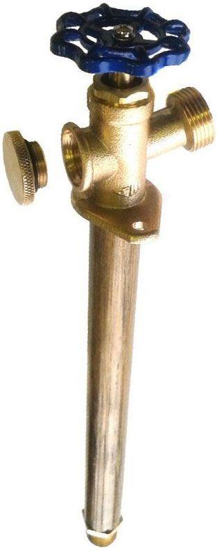 Кран фасадный Профитт, морозоустойчивый, длина 24 см1435490Кран фасадный Профитт с вентилем длиной 24 см. Это морозоустойчивый незамерзающий кран, который монтируется в фасад дома и дает возможность круглогодичного его использования. Принцип его работы заключается в том, что запирающий механизм находится в отапливаемой части дома, а угол, под которым он должен быть вмонтирован не позволяет воде скапливаться в замерзаемой части.