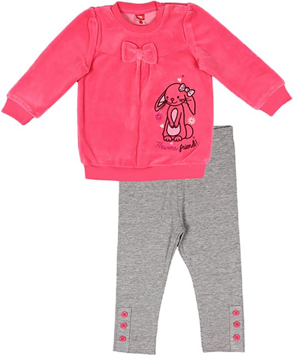 Комплект для девочки Cherubino: туника, лосины, цвет: розовый. CWB 9524. Размер 86