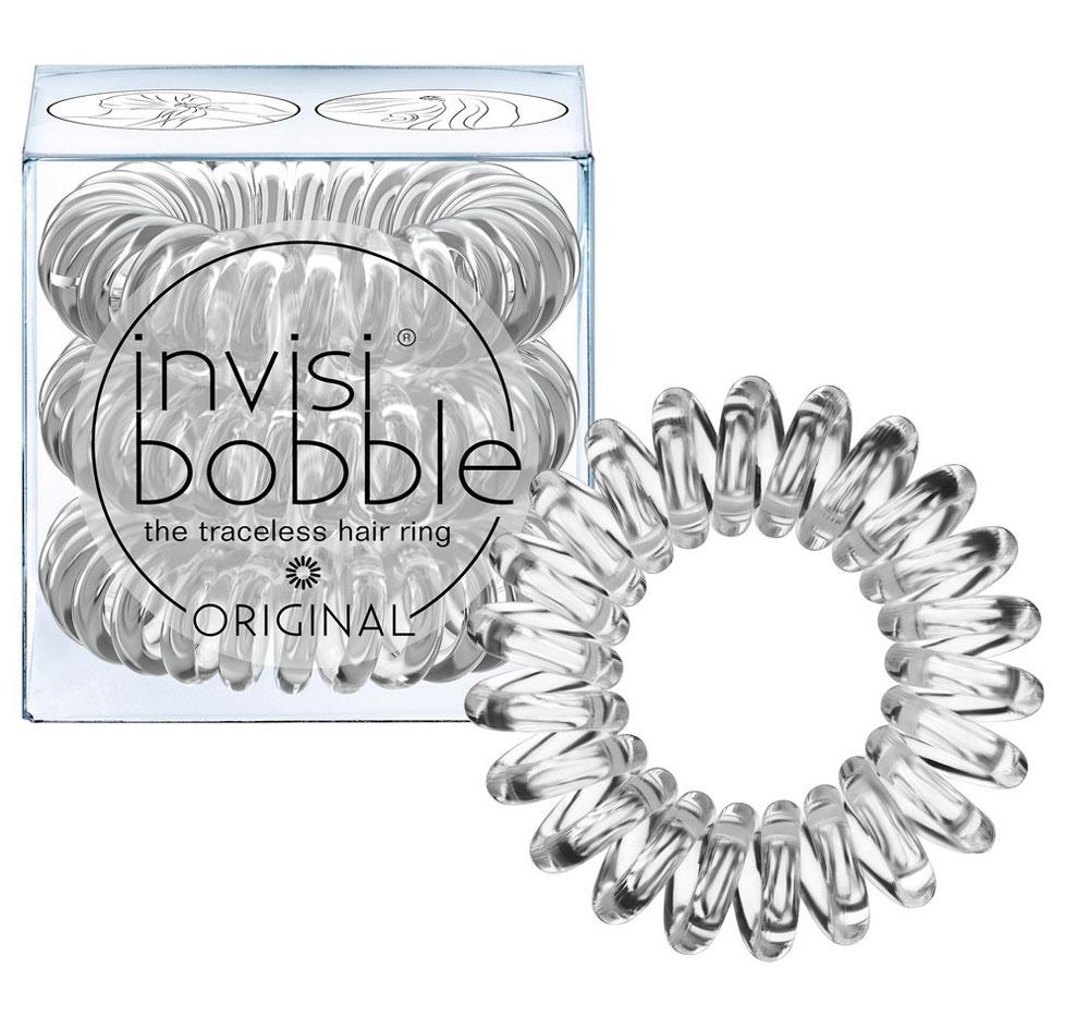 Invisibobble Резинка-браслет для волос Original Crystal Clear, 3 шт3042Скрытую в элегантной высокой прическе или переливающуюся на солнце, скрепляя хвост - эту прозрачную резинку invisibobble crystal clear из коллекции ORIGINAL обожают все! В коллекцию ORIGINAL вошли наиболее популярные цвета резинок-браслетов, а также новые цвета для создания безупречного образа на каждый день. Резинки-браслеты invisibobble подходят для всех типов волос, надежно фиксируют прическу, не оставляют заломов и не вызывают головную боль благодаря неравномерному распределению давления на волосы. Кроме того, они не намокают и не вызывают аллергию при контакте с кожей, поскольку изготовлены из искусственной смолы.C резинками Invisibobble можно легко создавать разнообразные прически. Резинки прочно держат волосы любой длины, при этом, не стягивая их слишком туго. Телефонный провод позволяет с легкостью и без вреда для волос протягивать пряди под спираль и ослаблять уже закрепленные для придания объема прическе. Invisibobble Original идеально подходят для ежедневного применения.Не комедогенна.