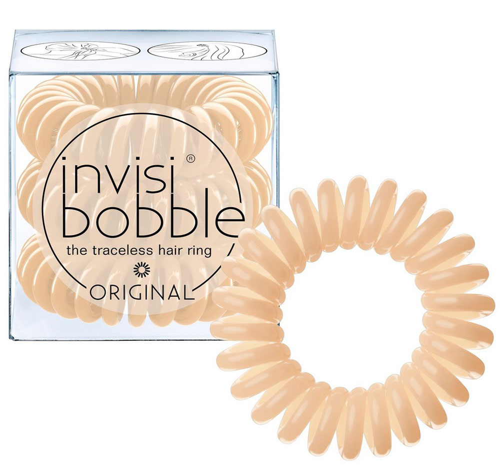 Invisibobble Резинка-браслет для волос Original To Be or Nude to Be, 3 шт invisibobble резинка для волос бежевого цвета original queen of the jungle 3 шт резинка для волос бежевого цвета original queen of the jungle 3 шт 3 шт уп
