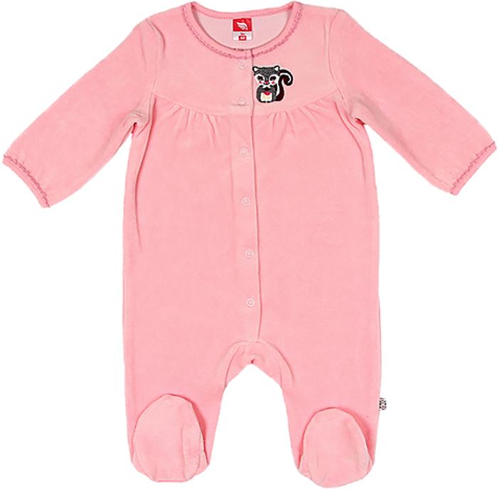 Комбинезон для девочки Cherubino, цвет: светло-розовый. CWN 9523 (128). Размер 80 комбинезон для девочки cherubino цвет желтый can 9623 142 размер 86