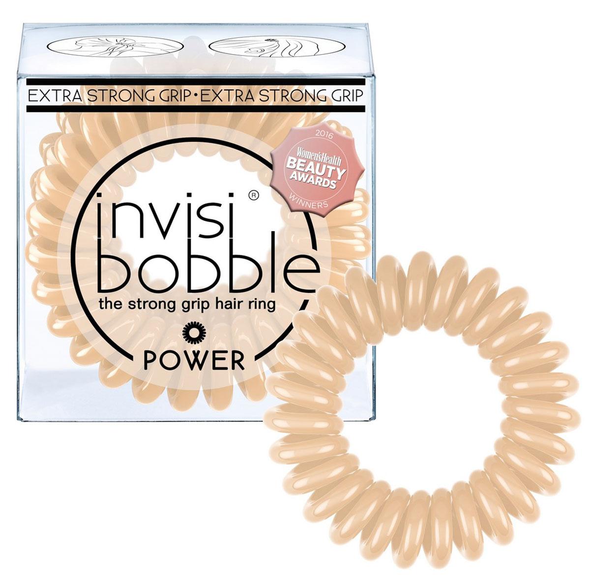 Резинка-браслет для волос Invisibobble Power To Be Or Nude To Be, 3 шт3069Резинки-браслеты invisibobble бежевого цвета To Be or Nude to Be из обновленной коллекции POWER подчеркнут ваш естественный образ. Резинки-браслеты invisibobble POWER немного больше в размере, чем invisibobble ORIGINAL, а также имеют более плотные витки. Это позволяет плотно фиксировать волосы во время занятий спортом и активного отдыха. invisibobble POWER также идеальны для густых волос. Резинки-браслеты invisibobble подходят для всех типов волос, надежно фиксируют прическу, не оставляют заломы и не вызывают головную боль благодаря неравномерному распределению давления на волосы. Кроме того, они не намокают и не вызывают аллергию при контакте с кожей, поскольку изготовлены из искусственной смолы.C резинками Invisibobble можно легко создавать разнообразные прически. Резинки прочно держат волосы любой длины, при этом, не стягивая их слишком туго. Телефонный провод позволяет с легкостью и без вреда для волос протягивать пряди под спираль и ослаблять уже закрепленные для придания объема прическе. Invisibobble идеально подходят для ежедневного применения.Не комедогенна.