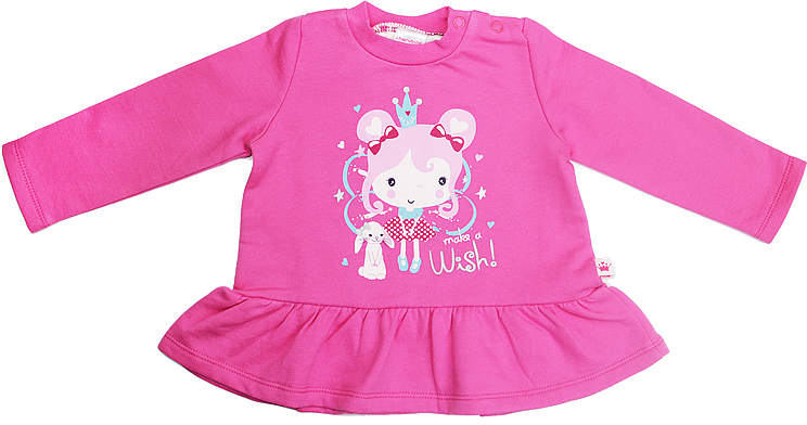 Джемпер для девочки Cherubino, цвет: розовый. CWN 6973. Размер 62CWN 6973Джемпер для девочки Cherubino изготовлен из хлопка, гладкокрашеный с принтом. Модель дополнена по низу воланом.