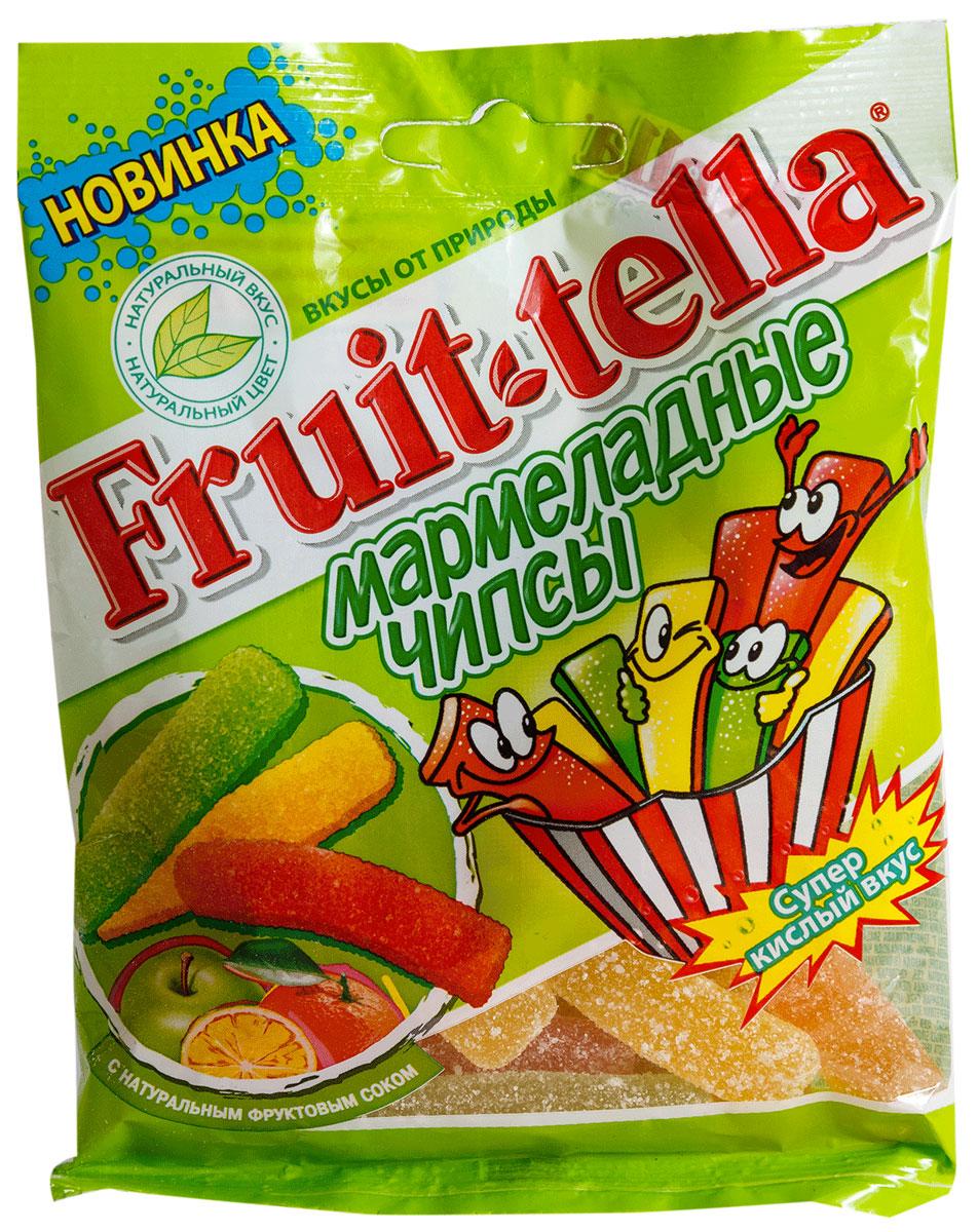 Fruittella Чипсы жевательный мармелад, 70 г ударница мармелад со вкусом черной смородины 325 г